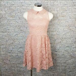 Xhilaration Blush Lace Dress Size Small
